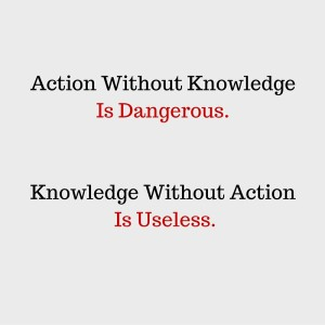 Action Without Knowledge Is Dangerous