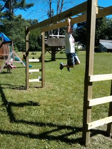Backyard monkey bars