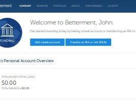 Setting Up Betterment Account