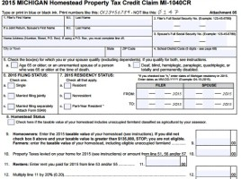 Michigan Homestead Property Tax Credit