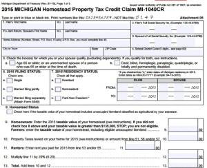 Paper On In Michigan Property Tax Exemption