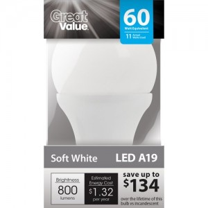 Great Value LED Light Bulb