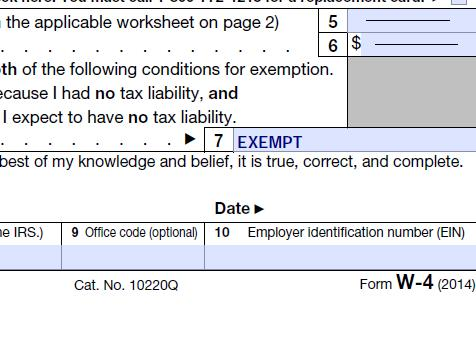 claim exempt on federal income taxes -action economics