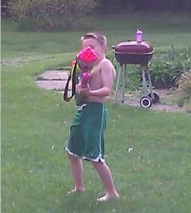 water gun fight birthday