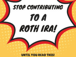 Stop contributing to a Roth IRA