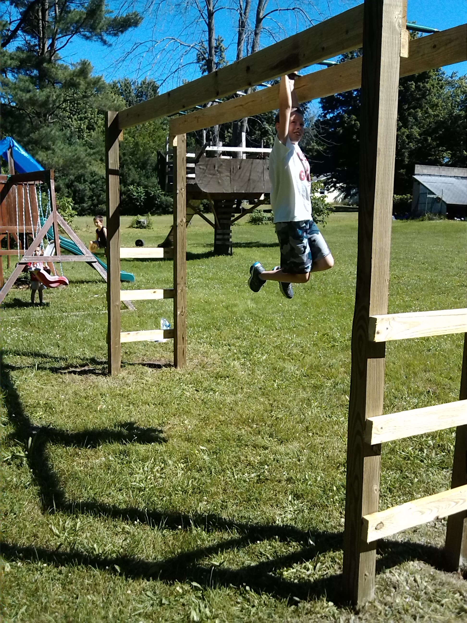 How To Build Monkey Bars My 100 Backyard Design Action