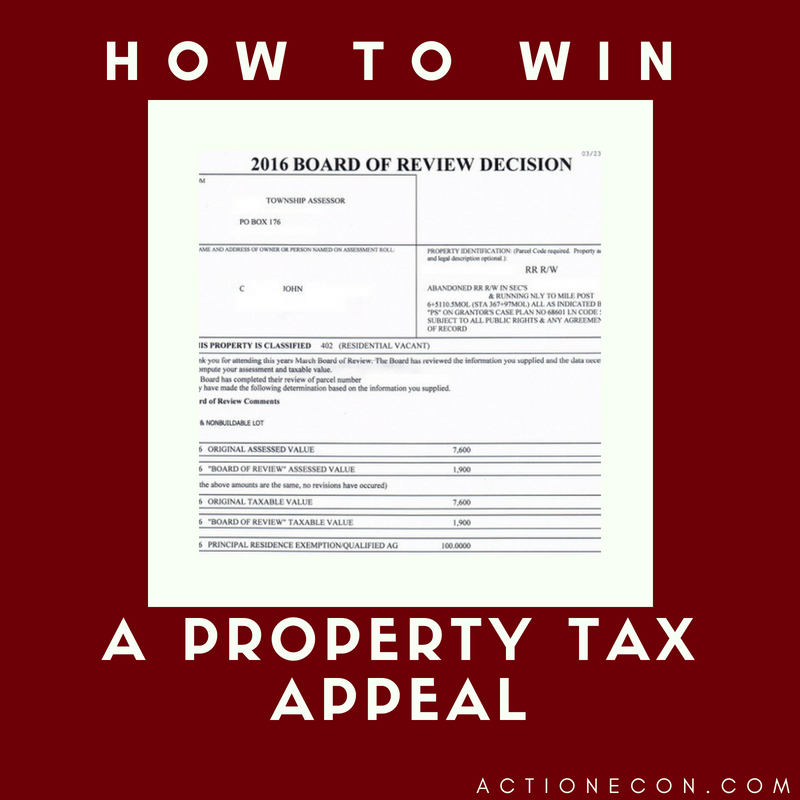 How To Win A Property Tax Appeal -Action Economics