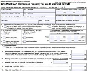 Michigan Homestead Property Tax Credit Form