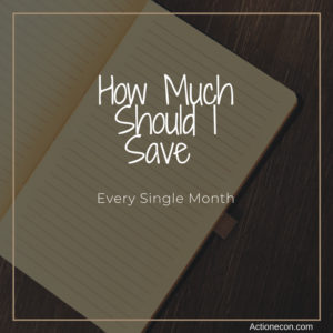 How much should I save each month